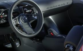Картинка стиль, Volkswagen, Concept T, внутренний вид