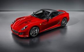 Картинка красный, Ferrari, спорткар, 599 GTO