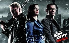 Обои Mickey Rourke, Микки Рурк, Josh Brolin, Джош Бролин, ради которой стоит убивать, Sin City: A ...