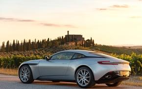 Картинка car, авто, Aston Martin, астон мартин, wallpaper, supercar, road, sky, DB11