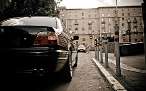 Картинка обои, фары, бмв, Car, wallpapers, бумер, семёрка, бэха, E38, BMW 750