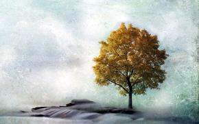 Картинка пейзаж, стиль, дерево