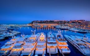 Картинка яхты, порт, Monaco