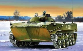 Картинка weapon, war, art, painting, tank, BMD-1