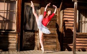 Обои Ballerina Dance, танец, пуанты, грация