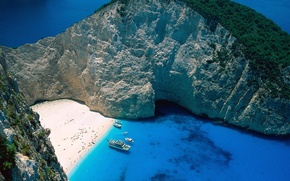 Картинка Греция, Лагуна, Остров