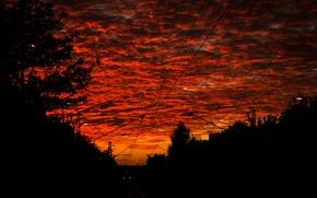 Картинка Clouds, Sky, Sunset, Train, Evening, Railroad, Rails