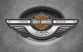 Картинка металл, Harley Davidson, логотип