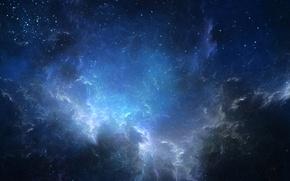 Картинка космос, звёзды, туманности