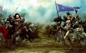 Картинка противостояние, фэнтези, битва, войска, game wallpapers, Bladestorm: Nightmare