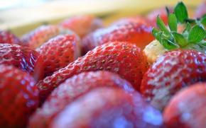 Картинка ягоды, еда, клубника, размыто, боке, обои от lolita777