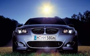 Обои трава, BMW, MMM