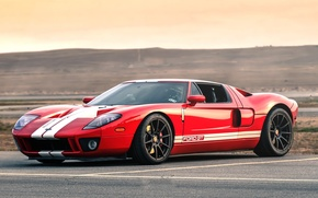 Картинка Ford, Red, Black, White, Wheels, Stripes