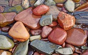 Обои вода, камни