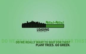 Обои Минимализм, Green, Экология