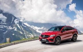 Картинка красный, купе, Mercedes-Benz, мерседес, AMG, Coupe, 4MATIC, 2015, C292, GLE 450