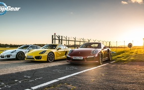 Картинка Porsche, Top Gear, GT3, Топ Гир, Supercar, Суперкары, Cayman S, 911 Turbo S