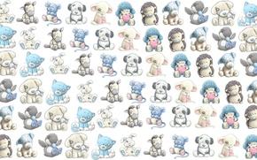 Картинка звери, фон, игра, игрушки, текстура, детская, малышам