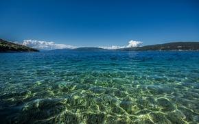 Картинка море, небо, горы, Хорватия