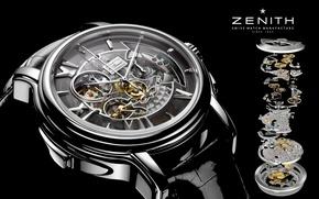 Картинка часы, механизм, Watch, Zenith