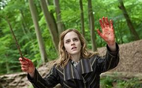 Обои Hermione Granger, колдовство, Emma Watson