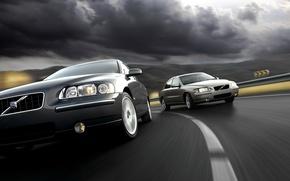 Обои движение, Volvo, обгон