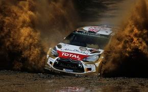 Картинка Citroen, Брызги, DS3, WRC, Rally, Ралли, Kris Meeke