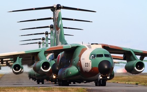 Картинка авиация, аэродром, самолёты, C-17 Globemaster