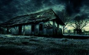 Картинка dark, house, old, scary