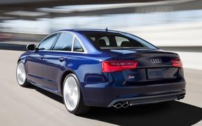 Картинка Audi, Дорога, Ауди, Синий, Машина, Движение, Машины, Седан, Car, Автомобиль, Cars, Blue, Автомобили, Road, Sedan, ...