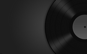 Обои музыка, фон, темно, винил, пластинка
