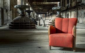 Картинка фон, кресло, фабрика