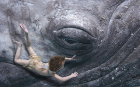 Картинка глаз, кит, ребёнок