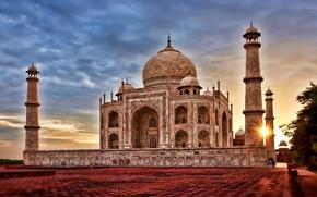 Картинка hdr, asian, india, Agra, taj mahal, Uttar Pradesh