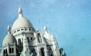 Картинка небо, пейзаж, здание, собор, архитектура, купол