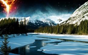 Обои winter, горы, зима
