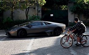 Обои велосипед, Lamborghini, Reventon
