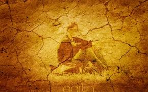 Картинка трещины, надпись, Земля, книга, парень