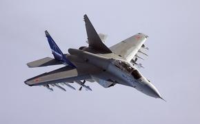 Картинка полет, истребитель, ракеты, Миг-35
