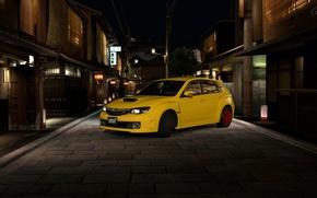 Картинка япония, желтая, субару, GT5
