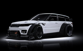 Картинка Land Rover, Range Rover, Body, Front, White, Tuning, Kit