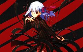 Картинка Girl, Red, Anime, Fate/Stay Night, Black, Type-Moon, Matou Sakura