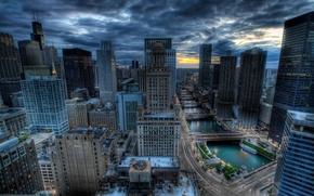 Картинка города, дома, hdr, америка, небоскрёбы
