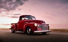Обои chevrolet, pickup, retro, old, car, lunchbox photoworks