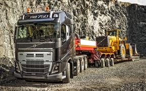 Картинка wallpaper, volvo, truck, fh16, wheelloader, fh750, l350f