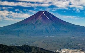 Картинка природа, гора, вулкан, Япония, Fuji