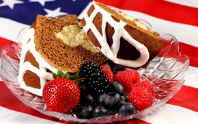 Обои кусочек торта, широкоэкранные, сладкое, глазурь, обои, тортик, черника, ягоды, малина, HD wallpapers, полноэкранные, background, fullscreen, ...