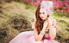 Картинка девушка, платье, кольцо, браслет