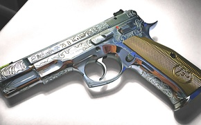 Картинка пистолет, оружие, самозарядный, CZ-75B