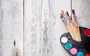 Картинка фон, обои, краски, настроения, художник, wallpaper, палитра, кисть, кисти, широкоформатные, рисование, background, кисточки, полноэкранные, HD ...
